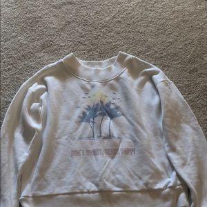 Aerie short crop sweatshirt